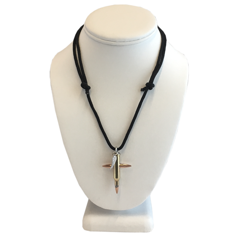 Rick Patterson Small Bullet Cross Necklace-17 Hornet