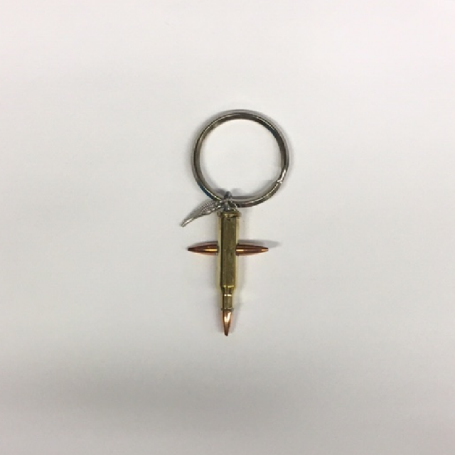 Rick Patterson Medium Bullet Cross Keyring-17 Hornet