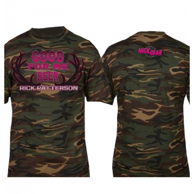 Rick Patterson Good For Me Deer Camo Tee in Pink