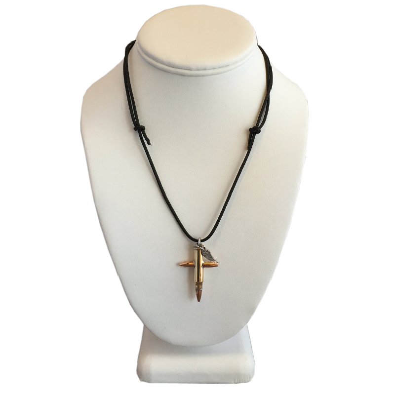 Small Bullet Cross Necklace .17 HMR