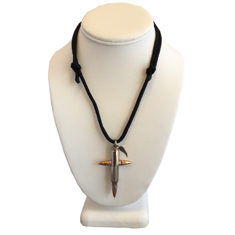 Large Nickel Bullet Cross Necklace